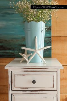 Distressed Ikea piece by Orphans with Makeup - Annie Sloan chalk paint