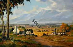 Misty Morning - Overberg by Dale Elliot Stella Art, Watercolor Paintings, Oil Paintings, South African Artists, Landscape Artwork, Western Art, Online Art Gallery, Cool Art, Art Photography