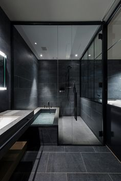 Hotel Koé Tokyo by Dwell is designed with a global perspective. Home Room Design, Dream Home Design, Modern House Design, Home Interior Design, Black Bedroom Design, Loft Design, Design Hotel, Design Case, Modern Interior Design