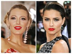 Some classy red lips at the Met Gala last night.