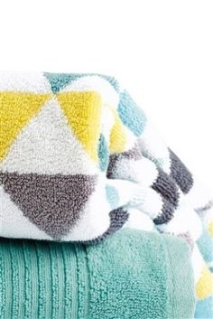 Teal Geo Towel from Next Latest Fashion For Women, Mens Fashion, Shower Time, Cosy, Home Furnishings, Towel, Throw Pillows, Geo, Bathroom Ideas