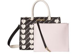 ICYMI: #sale #deal New Betsey Johnson Signature hearts Bag In A Bag Satchel with wristlet