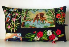 UNIQUE French Needlepoint Tapestry & Antique by Retrocollects, £35.00