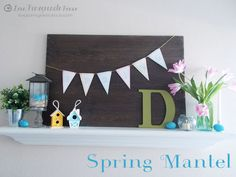 Spring Mantel with LovePomegranateHouse.com