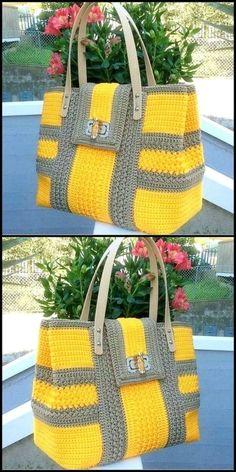 How crochet patterns saved your life? Handicrafts and handicrafts like crochet . - How crochet patterns saved your life? Handicrafts and handicrafts How crochet instructions saved yo - Crochet Diy, Crochet Tote, Crochet Handbags, Crochet Purses, Crochet Crafts, Crochet Things, Free Crochet Bag, Crochet Baskets, Unique Crochet