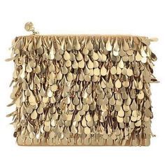 Forest Of Chintz The Great Gold Glitzy Bag ($676) ❤ liked on Polyvore featuring bags, handbags, clutches, gold, hand bags, embellished purses, man bag, sequin purse and brown purse