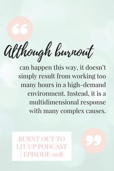 Check out the Burnt Up to Lit Up Podcast on iTunes, Stitcher, or SoundCloud and learn more about stress management, anxiety tips, burnout prevention, happiness and energy tips, and how to increase work-life balance or as I like to say: work-life harmony and work-life satisfaction! Podcast by Erika del Pozo, founder of Joy Energy Time.  Read more about the podcast and show notes here:  https://joyenergytime.com/podcast/