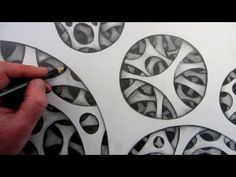 How to Draw a 3D Illusion using Circles: Art video lesson by Circle Line Art School