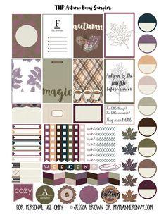 Free Printable Autumn Bonus Sampler Stickers for The Happy Planner