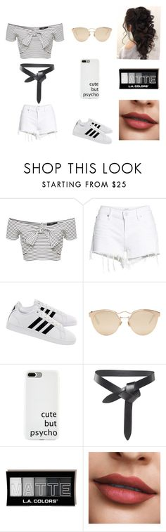 """""""Tie it up"""" by xgalaxyunicornx on Polyvore featuring Hudson Jeans, adidas, Christian Dior and Isabel Marant"""