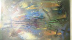 5:35 p.m. ... Adora el amarillo, su pájaro es el mirlo, su hora la noche. Óleo sobre lienzo. 200 x 128,5 cm. 2008 - 2013.