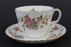 Vintage Signed Adderley Heritage Fine Bone China English Tea Cup Saucer Set | eBay