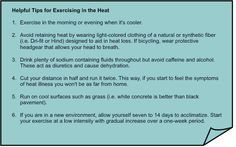it's HOT out there today! 6 Helpful Tips for Exercising in the Heat #safetyfirst   #excercisetips