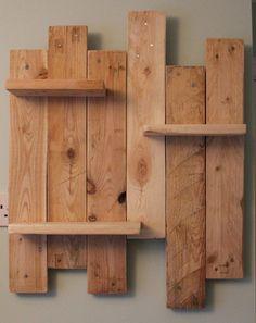 Reclaimed Pallet Wood Shelves Rustic/Shabby by SunnySideInteriors
