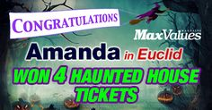 Congratulations to Amanda in Euclid! She is our WINNER of the 4 Tickets to Lake Eerie Fearfest!!!! We will be announcing our NEW sweepstakes soon... it's a really good one and great for the Holiday Season! Stay informed of all our latest sweepstakes and offers, signup today @ http://maxvaluesmag.com/findit/sign-up/