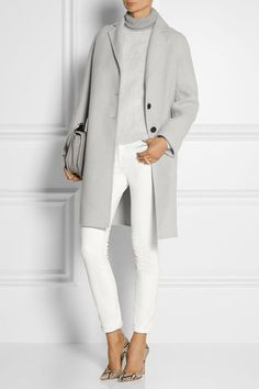 What to Wear to Office or Business Attire Ideas from Your Wardrobe MARC JACOBS Alpaca and wool blend coat Fashion Mode, Work Fashion, Womens Fashion, Fashion Trends, Style Fashion, Fashion Stores, Classic Fashion, Petite Fashion, Curvy Fashion