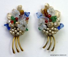 Flower Spray Earrings
