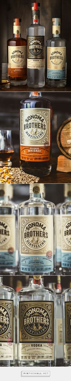 Sonoma Brothers Distilling Liquor Packaging by CF Napa Brand Design | Fivestar Branding Agency – Design and Branding Agency & Curated Inspiration Gallery