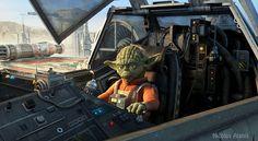 Yoda Starfighter Pilot by Nikolas Alanis