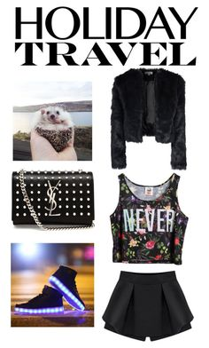 """""""Holiday Travel"""" by slim-thick ❤ liked on Polyvore featuring Alice & You, Chicnova Fashion and Yves Saint Laurent"""