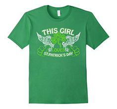This Girl Loves Patrick's Day T-shirt Wing Clover Tee
