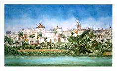 Cuadro en #acuarela de Sevilla