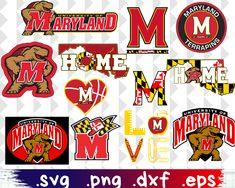 University Of Maryland, University Logo, Vans Girls, Busy Bee, Personalized T Shirts, Logo Design, Cricut, Clip Art, Bead Crafts