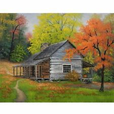 House Paint Paint By Number Kit DIY Acrylic Painting on Canvas Frameless Watercolor Landscape, Landscape Art, Landscape Paintings, Watercolor Barns, Barn Paintings, Pictures To Paint, Art Pictures, Photos, Acrylic Painting Canvas