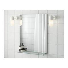 Широкий край образует удобную полочку для мыльницы и подставки для зубных щеток. Зеркало снабжено защитной пленкой с обратной стороны. Это снижает опасность получения травм, если стекло разобьется.