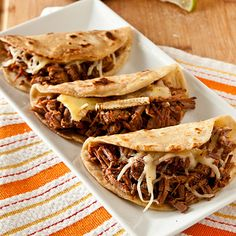 Brie and Brisket Quesadillas or Tacos with Mango Barbecue Sauce Recipe   Confections of a Foodie Bride
