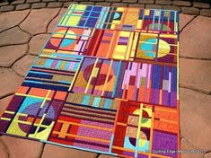 arts and crafts movement quilts   Art and Craft / This Colour Shot quilt is brilliant!