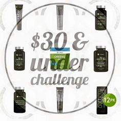 Look at all these amazing products for $30 & under! ALL NATURAL AND NON-GMO!  Don't want to spend a ton but wanting to give It Works! a try,  let's chat!    317.385.0545