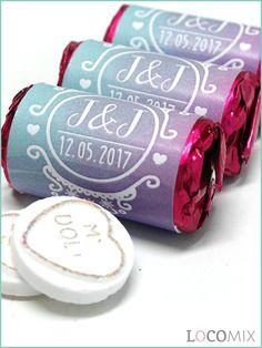 Surprise your wedding guest with a sweet wedding favour treat! These Love Sweets wedding favours are perfect for a wedding on a budget but really tasteful. Choose your favourite design for the Love Sweets favours and customize it online, add your names, wedding date and a thank you note for your guests!