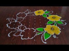 Rangoli Designs Simple Diwali, Indian Rangoli Designs, Rangoli Designs Flower, Small Rangoli Design, Rangoli Border Designs, Rangoli Designs With Dots, Rangoli With Dots, Beautiful Rangoli Designs, Diwali Rangoli