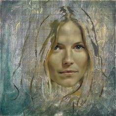 Sienna Miller, oil on canvas, 45 x 45 cm, from The Many Faces of Jonathan Yeo, published by Art / Books Art Gallery, National Portrait Gallery, Jonathan Yeo, Artist At Work, Portrait Artist, Portraiture, Artist, Portrait Art, Portrait Gallery