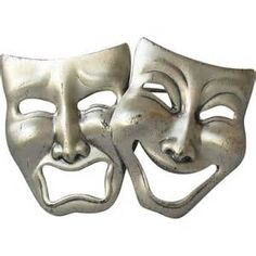 Details about COMEDY TRAGEDY masks