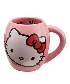 Love this Round Hello Kitty Ceramic Mug on #zulily! #zulilyfinds