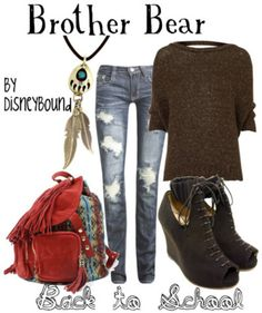 By DisneyBound. I'm not a big fan of Brother Bear, but I love this outfit!