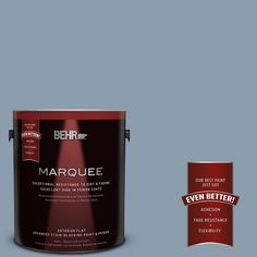 BEHR MARQUEE 1-gal. #icc-65 Relaxing Blue Flat Exterior Paint