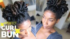 Perfect Curl Bun - Easy Heatless Natural Hairstyle -Naptural85