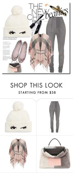 """""""Bad hair day fix.. beanie"""" by maryfromnewengland ❤ liked on Polyvore featuring Kate Spade, Balmain, Barbour, Fendi, beanies, polyvoreeditorial and polyvorecontest"""