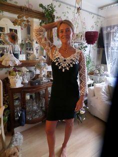 Sandra aan de voorkant jurk gemaakt door Isabella Buhl
