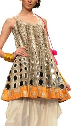 Contemporary and Traditional Clothes for Women from leading Indian fashion designers. Beautiful Sarees, Saris, Dresses, Anarkali Suits that are Kurta Designs, Blouse Designs, Indian Dresses, Indian Outfits, Indian Clothes, Mirror Work Dress, Designs For Dresses, Indian Designer Wear, Indian Designers