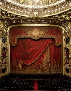 The fire curtain at the Paris Opera is sublimely 3rd Empire.  Rich, over-the-top and a bit vulgar.