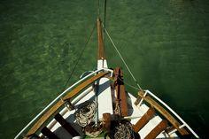antiparos island on the boat