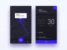 ParkedIt - iOS App UI/UX Design by Nimasha Sewwandi Perera #Design Popular #Dribbble #shots