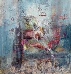 "Abstract Artists International: Mixed Media Abstract Art Painting ""Baby Sings The Blues"" by Contemporary Artist Lee Canalizo"