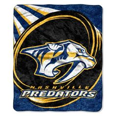 NHL Nashville Predators Puck Sherpa Throw Blanket, 50x60-...