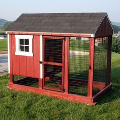 Chicken Coop - Give your backyard chickens a new home with inspiration from these fabulous chicken coops. Building a chicken coop does not have to be tricky nor does it have to set you back a ton of scratch. Chicken Coop Designs, Easy Chicken Coop, Diy Chicken Coop Plans, Building A Chicken Coop, Red Chicken, Country Chicken, Backyard Coop, Backyard Chicken Coops, Chickens Backyard