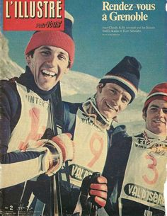 Stylin' in stretch ski pants on the cover of TIP magazine, with Theres Obrecht in 1967. #vintage #skiing